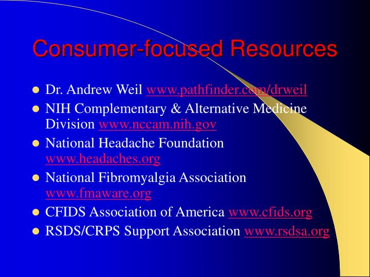 Consumer-focused Resources