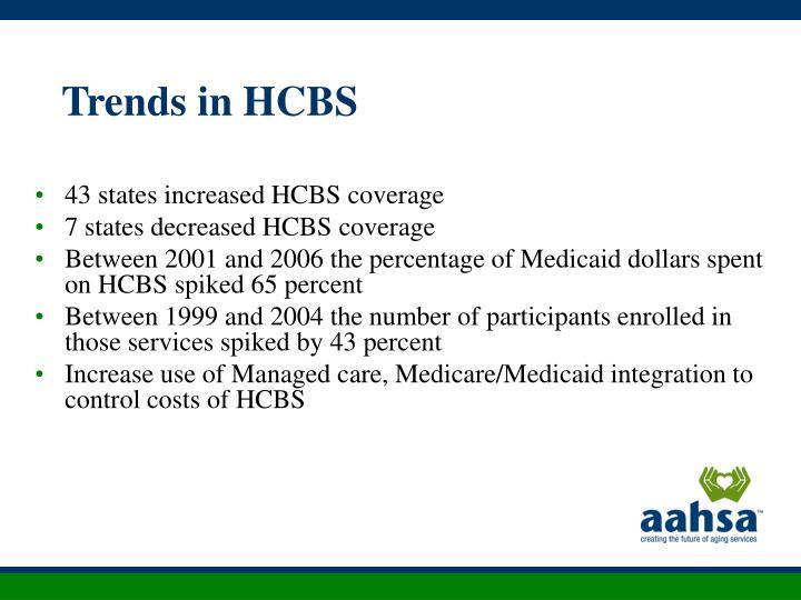 Trends in HCBS
