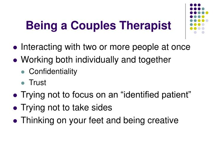 Being a Couples Therapist