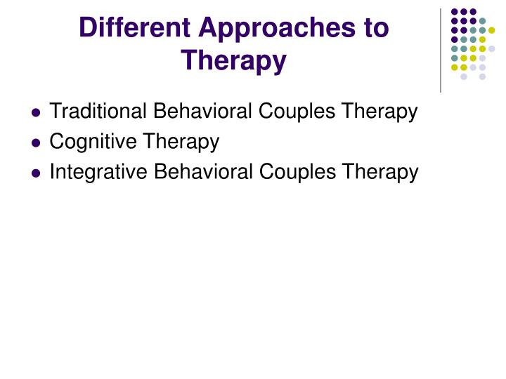 Different Approaches to Therapy