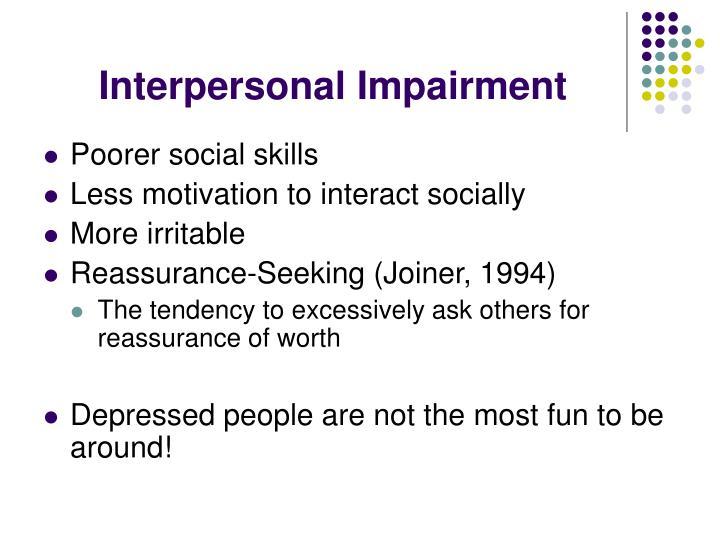 Interpersonal Impairment