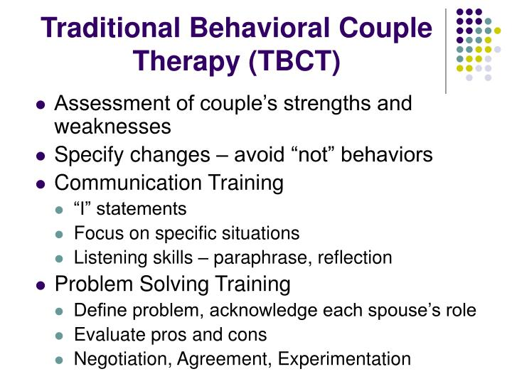 Traditional Behavioral Couple Therapy (TBCT)