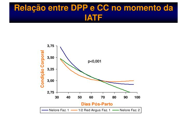Relação entre DPP e CC no momento da  IATF