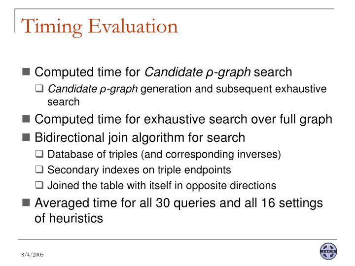 Timing Evaluation