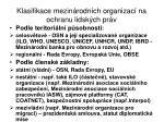 klasifikace mezin rodn ch organizac na ochranu lidsk ch pr v