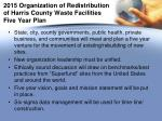 2015 organization of redistribution of harris county waste facilities five year plan