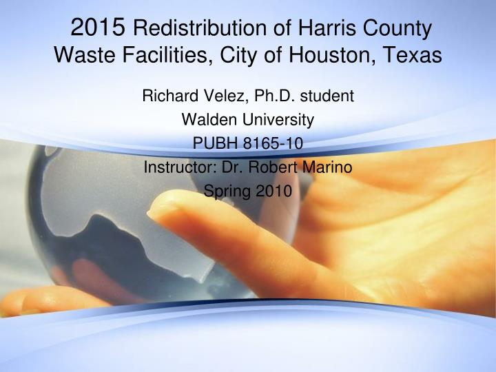 2015 redistribution of harris county waste facilities city of houston texas