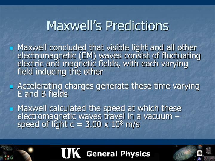 Maxwell's Predictions