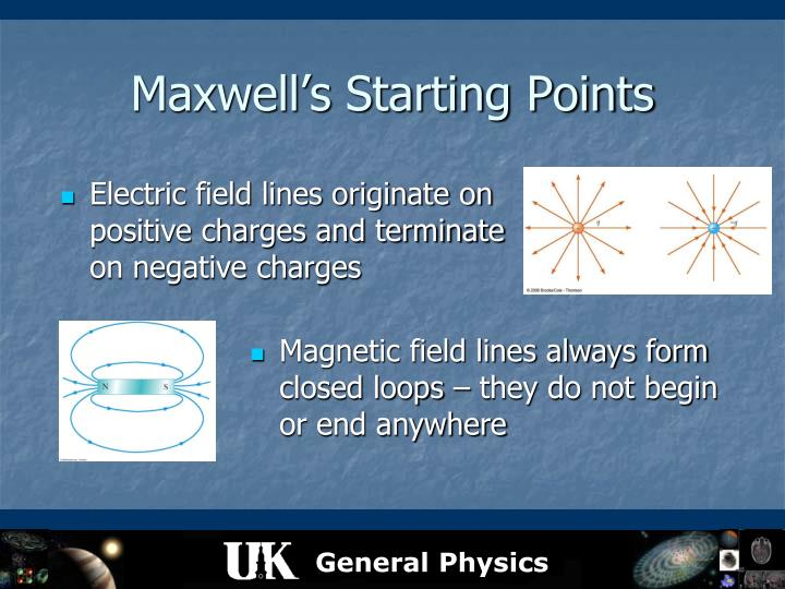 Maxwell's Starting Points