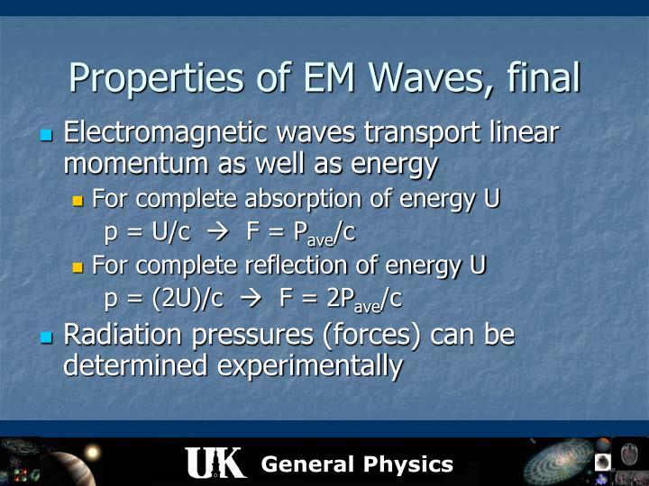 Properties of EM Waves, final