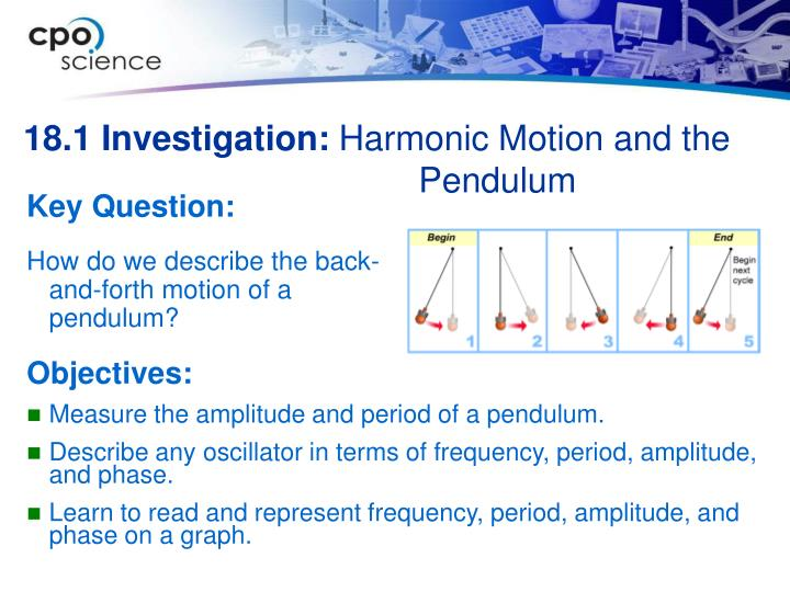 18 1 investigation harmonic motion and the pendulum