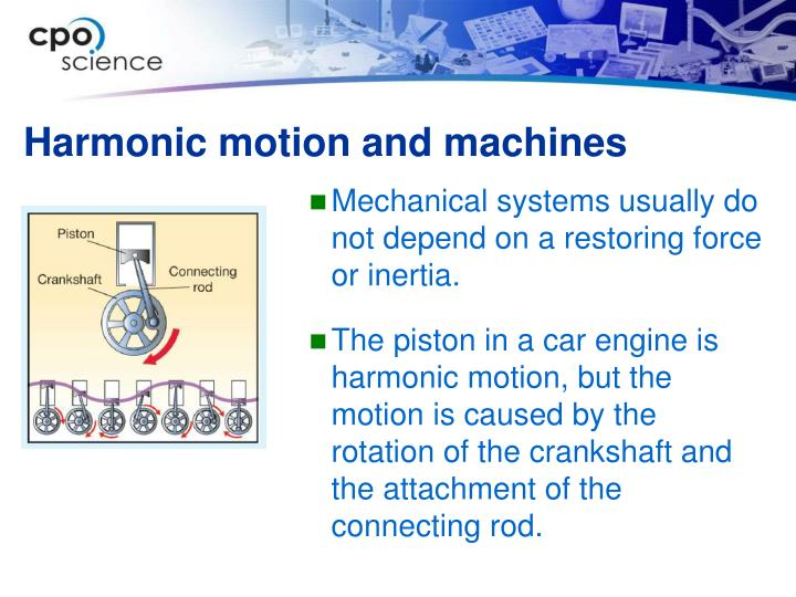 Harmonic motion and machines