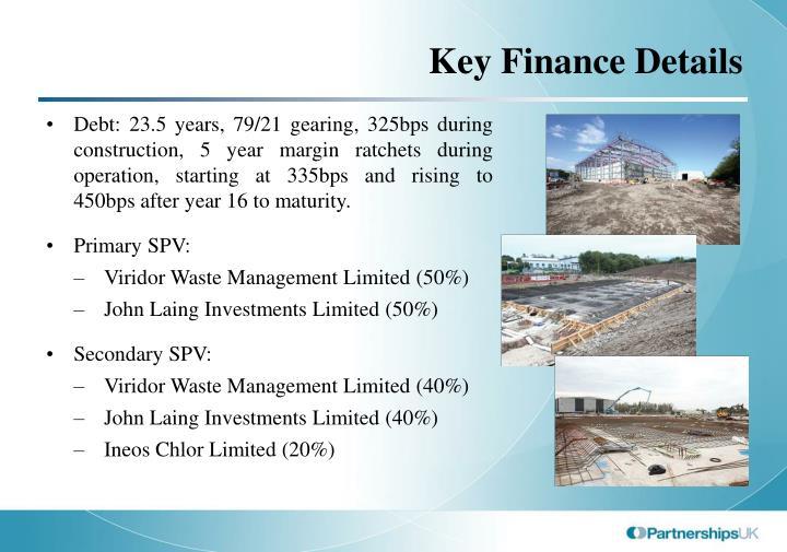 Key Finance Details