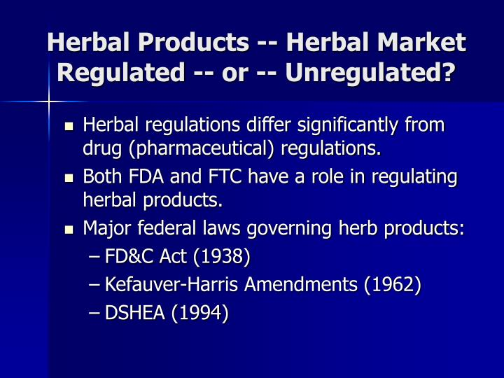 Herbal Products -- Herbal Market