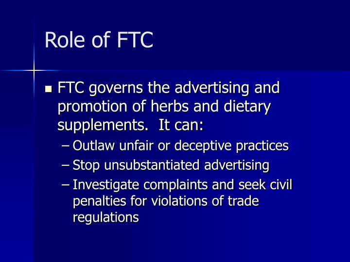 Role of FTC