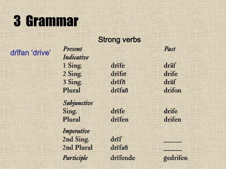 3  Grammar