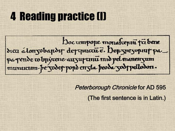 4  Reading practice (I)