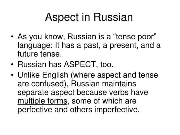 Aspect in Russian