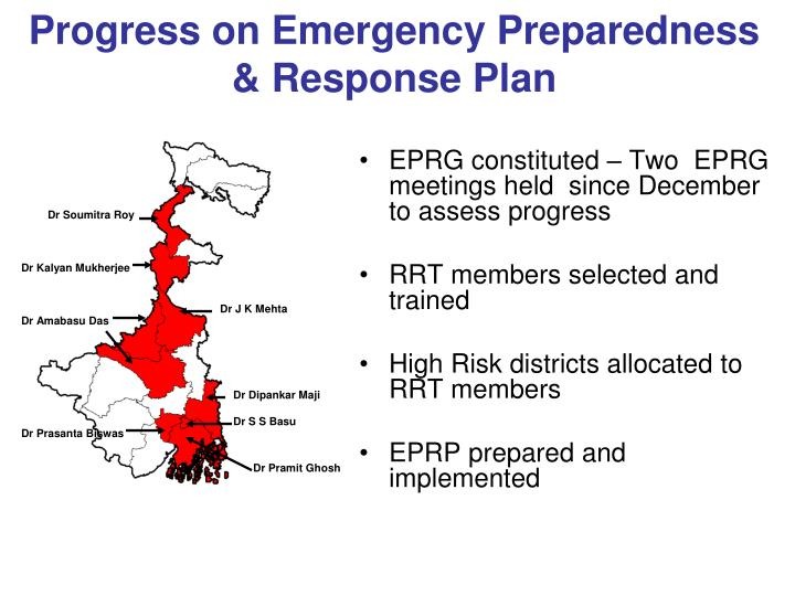 Progress on Emergency Preparedness & Response Plan