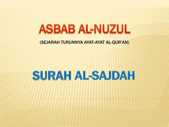 ASBAB AL-NUZUL