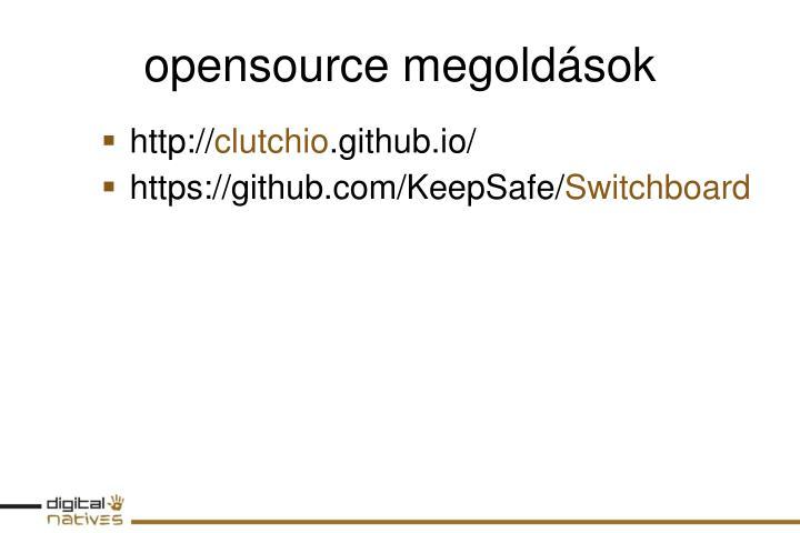 opensource megoldások