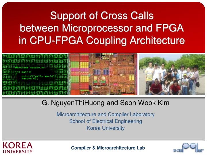 Support of cross calls between microprocessor and fpga in cpu fpga coupling architecture