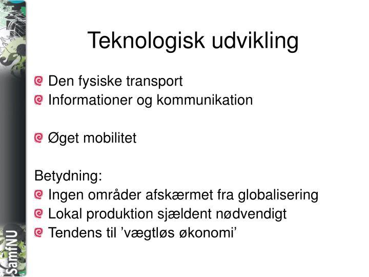 Teknologisk udvikling