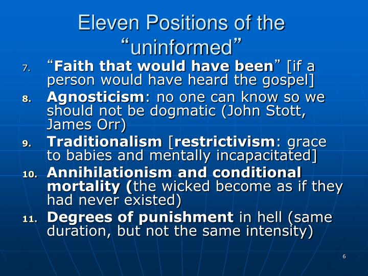 Eleven Positions of the