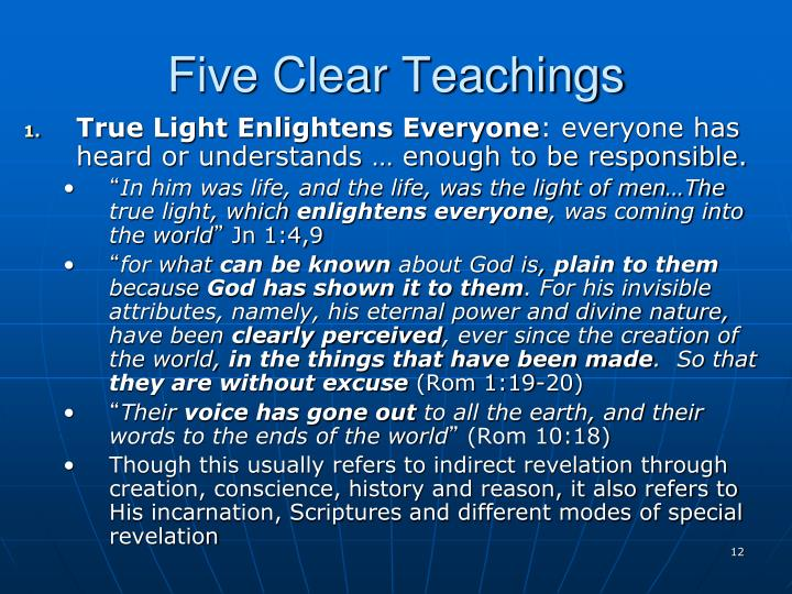 Five Clear Teachings