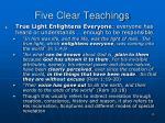 five clear teachings