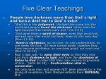 five clear teachings1