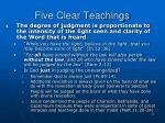 five clear teachings2