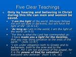 five clear teachings4