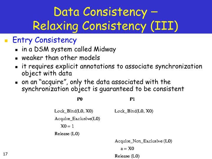 Data Consistency