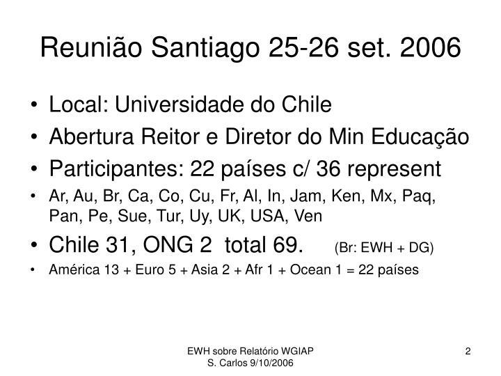 Reunião Santiago 25-26 set. 2006