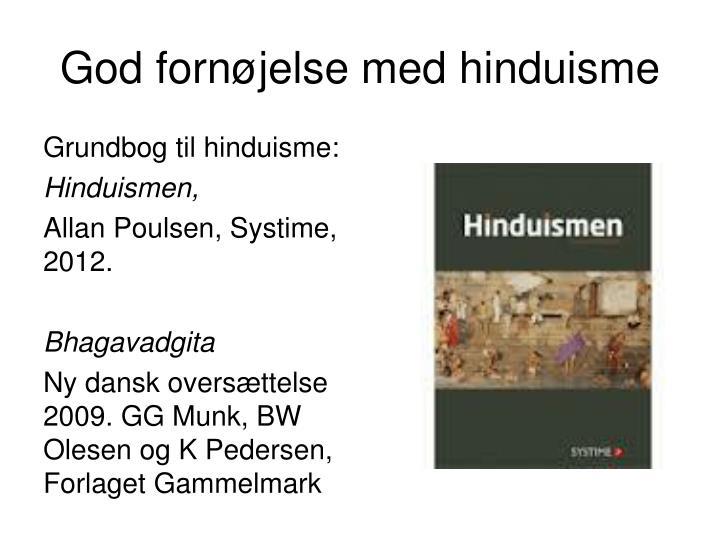 God fornøjelse med hinduisme