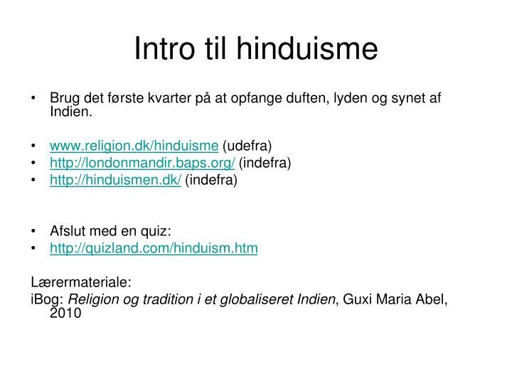 Intro til hinduisme