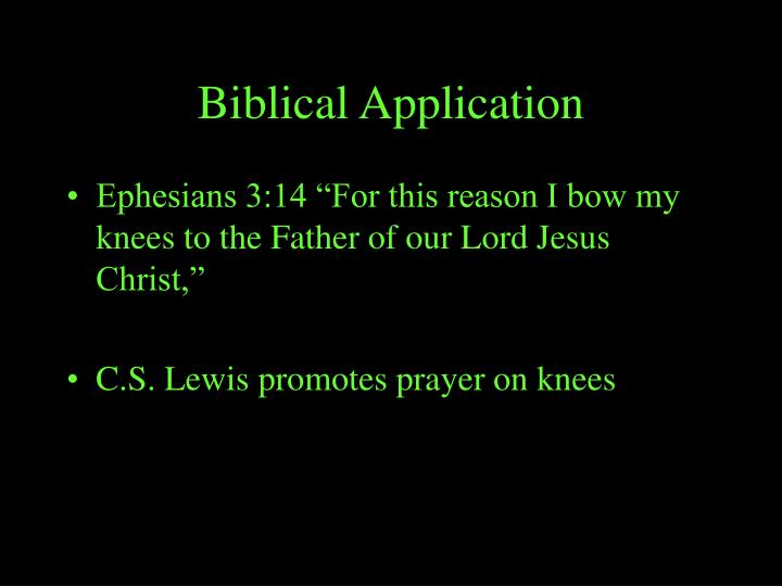Biblical Application