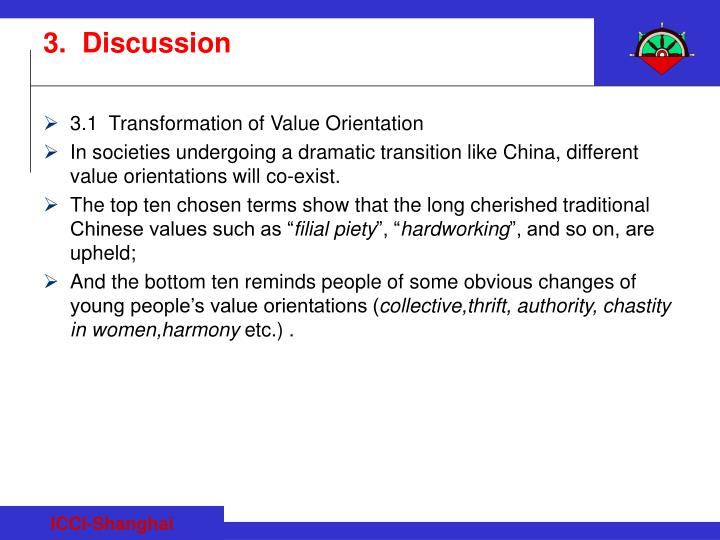 3.1  Transformation of Value Orientation