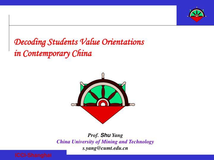 Decoding Students Value Orientations