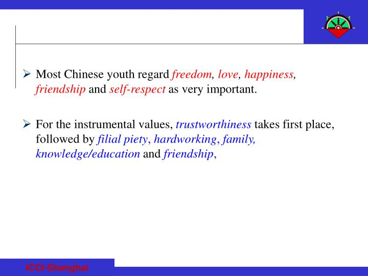 Most Chinese youth regard