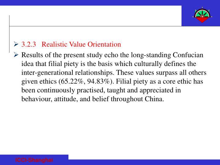 3.2.3   Realistic Value Orientation