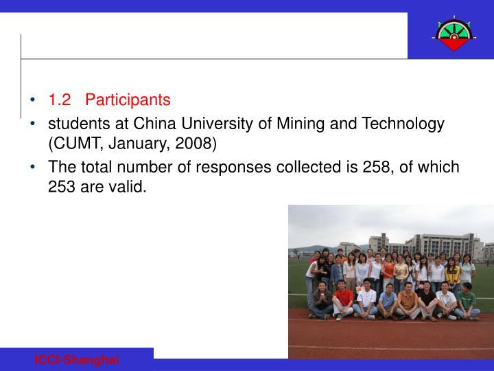 1.2   Participants