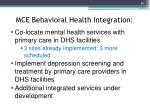 mce behavioral health integration