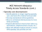 mce network adequacy timely access standards cont1