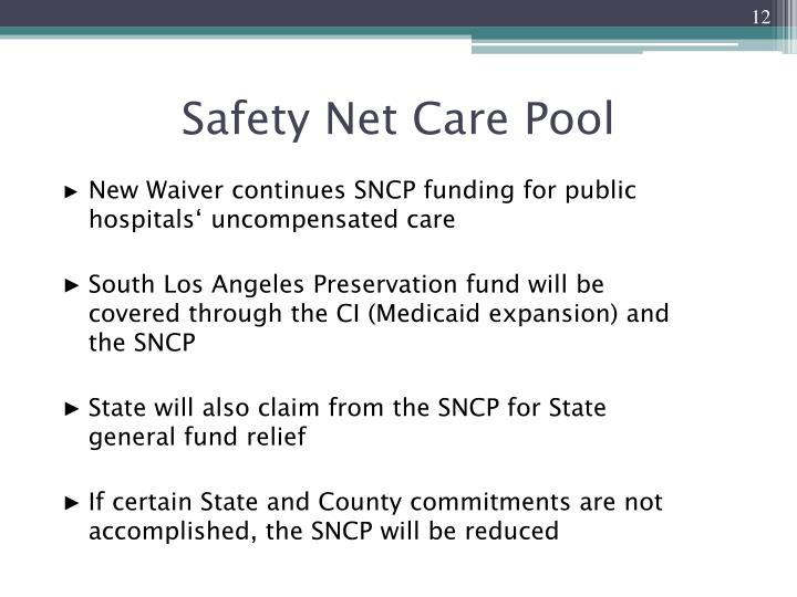 Safety Net Care Pool
