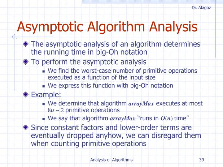 Asymptotic Algorithm Analysis