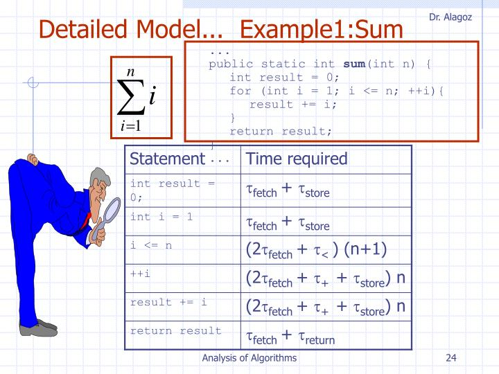 Detailed Model...  Example1:Sum