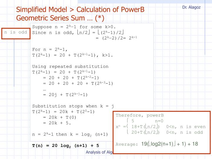 Simplified Model > Calculation of PowerB