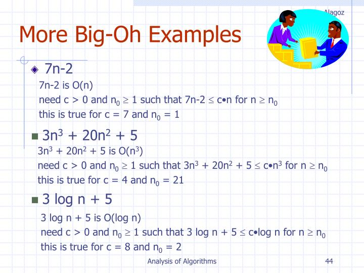 More Big-Oh Examples